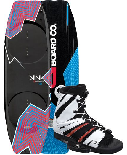 The Kink boasts a fast base and is very versatile. It releases well and is just is at home in the cable park as it is behind the boat. When paired with the Venza boot, one obtains a super light and supportive set up for a very comfy price.