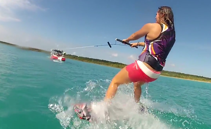 Nicola Butler Getting Up Wakeboarding