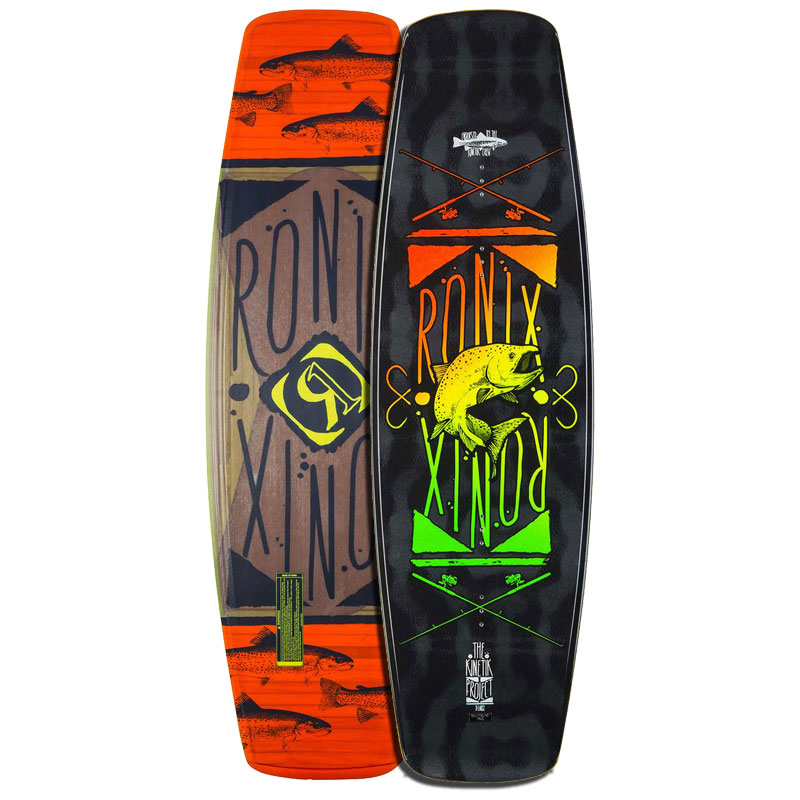 Ronix 2015 Kinetik Project Intelligent Core (Metallic Black/Fresh Bait) Wakeboard