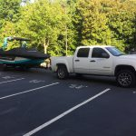 Our Nautique GS22 back from the Masters in one piece!