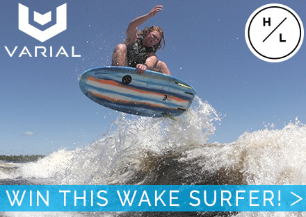 Win this custom Varial Riot Wakesurfer!