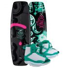 "Ronix 2019 Quarter 'Til Midnight ""SF"" w/ Luxe Women's Wakeboard & Bindings Package"