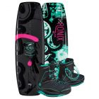 "Ronix 2019 Quarter 'Til Midnight ""SF"" w/ Signature Women's Wakeboard & Bindings Package"