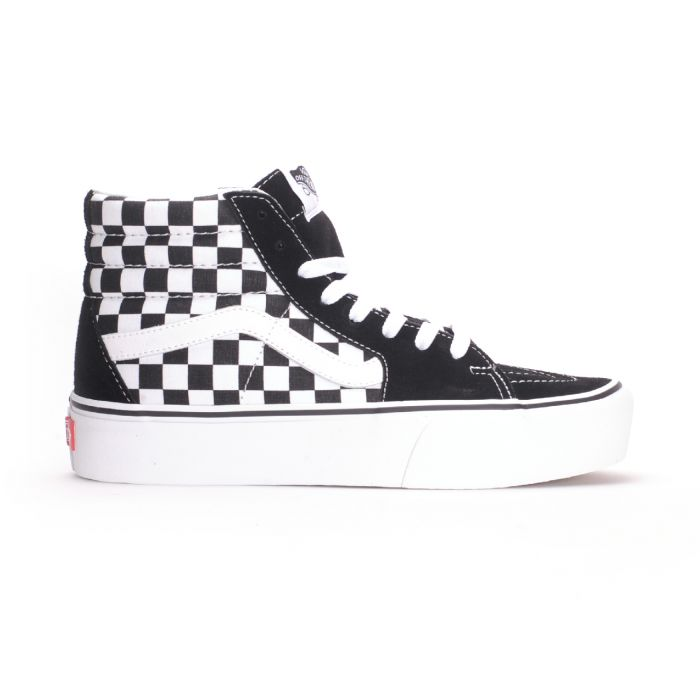 Vans Sk8-Hi Platform 2 (Checkerboard/True White) Women's Shoes