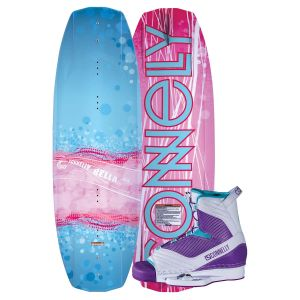 Connelly 2019 Bella w/ Optima Kid's Wakeboard & Bindings Package