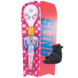 Slingshot 2020 Space Mob w/ Option Wakeboard & Bindings Package