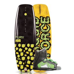 Liquid Force 2019 Fury 115 w/ Rant Kid's Wakeboard & Bindings Package